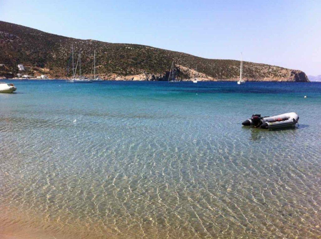 Spiaggia cicladi nord