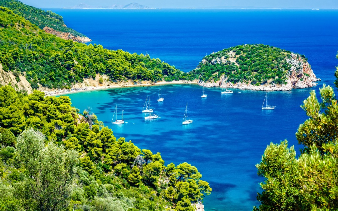 Cruise from the Sporades Islands to the Chalkidiki peninsula